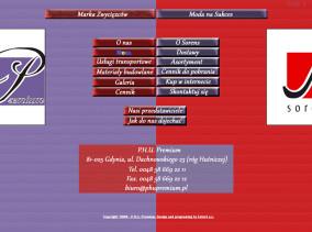 Strona www PPHU Premium - dwie marki