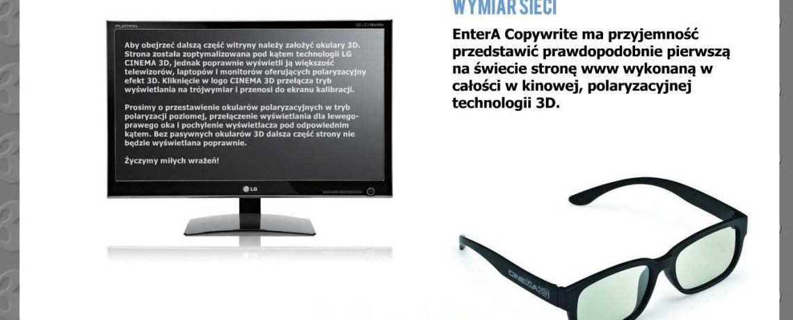 Strona www Entera studio WWW w 3D