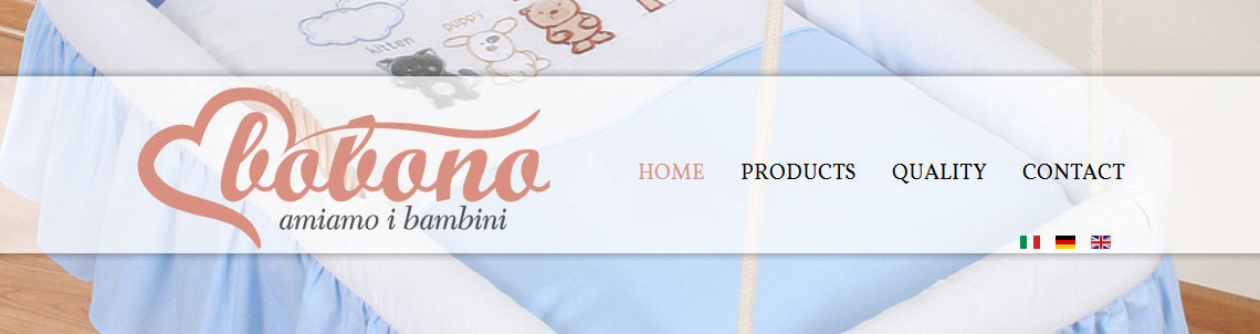 Produktowa strona marki Bobono