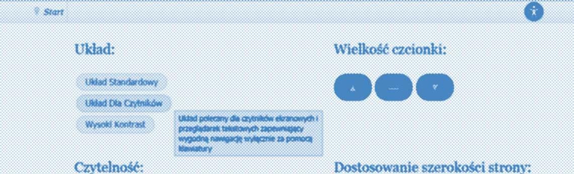 Strona www zgodna z wytyczną WCAG 2.0