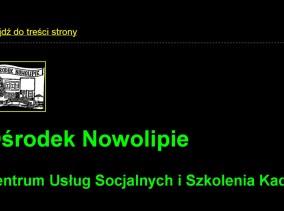 Strona www Ośrodka Nowolipie zgodna z WCAG 2.0, zaprojektowana przez Entera Studio WWW - wysoki kontrast