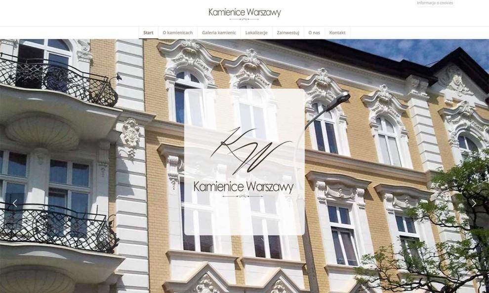 Kamienice Warszawy - strona zaprojektowana przez Entera Studio WWW - strona główna