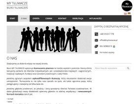 My Tłumacze - biuro tłumaczeń online zaprojektowane przez Entera Studio WWW - komunikacja z klientem