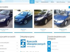 Nowa strona www Compense - auta zastępcze