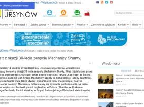 Ursynów.pl zgodny ze standardem WCAG 2.0 - tryb dla czytników