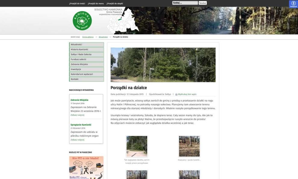 Sołectwo Kamionka - artykuł