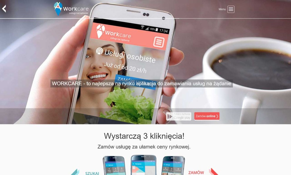 Workcare - platforma do zamawiania usług na żądanie