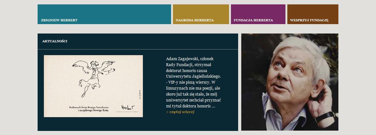 Portal internetowy Fundacji Herberta