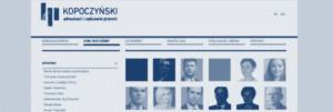 Strona www Kancelarii Prawnej Kopoczynski