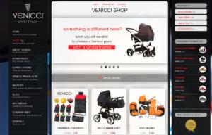 Firmowa strona www i sklep marki Venicci - sklep
