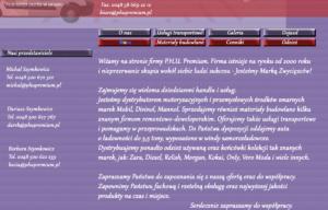 Strona www PPHU Premium - o firmie