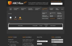 Strona www programu ArchlineXp - pobieranie