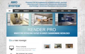 Strona www dla firmy Awo System - strona startowa