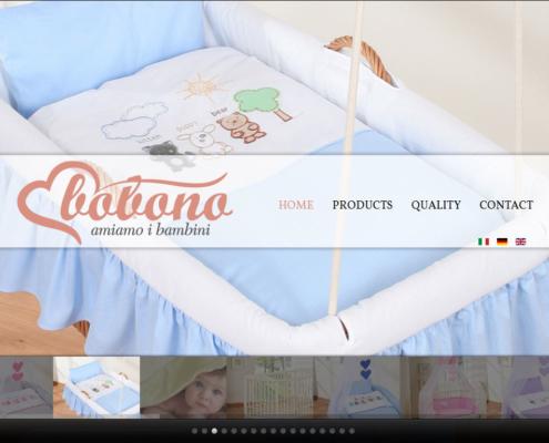 Wizerunkowa strona www dla marki Bobono