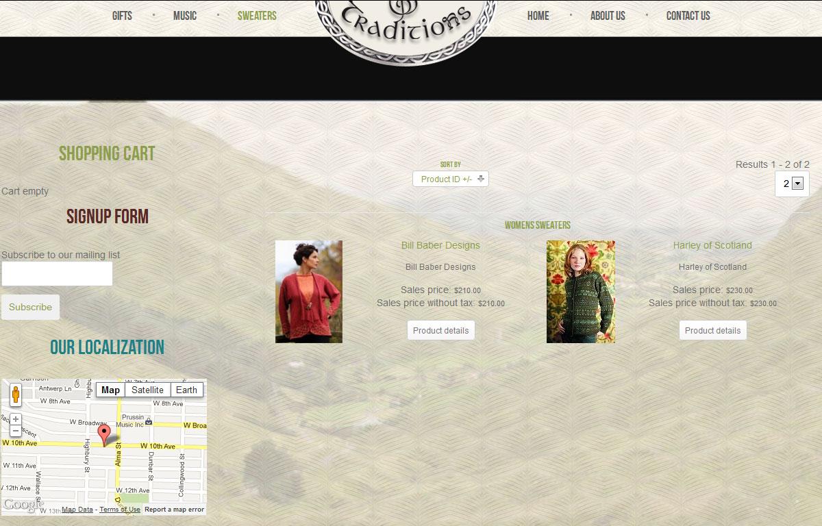 Sklep internetowy Celtic Traditions - sklep ze swetrami