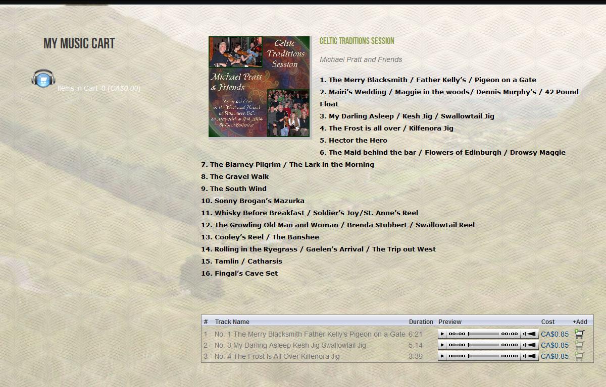 Sklep internetowy Celtic Traditions - sklep z muzyką