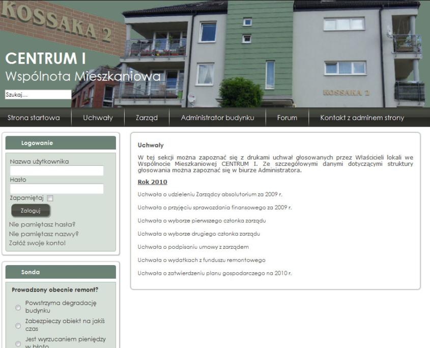 Portal dla Wspólnoty Mieszkaniowej Centrum I - artykuły