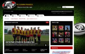 Portal internetowy Czarni Pruszcz Gdański - strona startowa