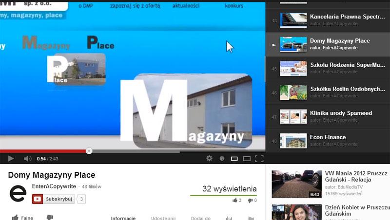 Strona www spółki DMP - prezentacja wideo