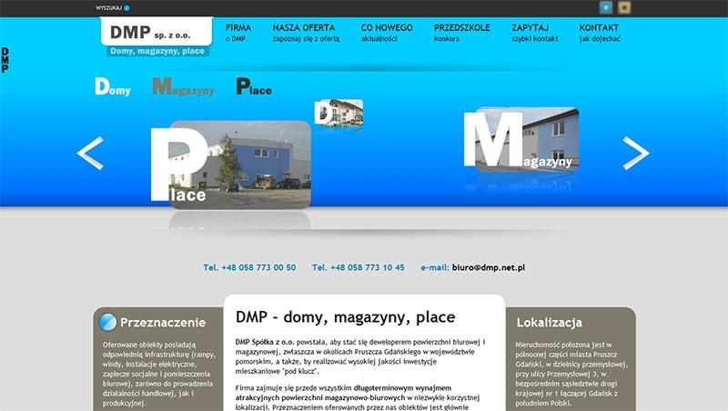 Strona www spółki DMP