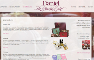 Sklep internetowy Daniel Le Chocolates Belge - produkty