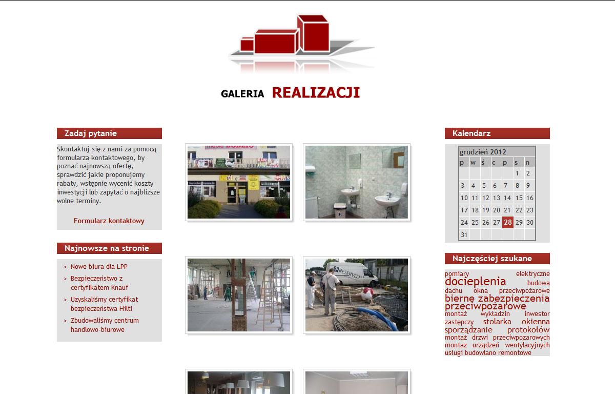 Strona www firmy Majster Bud - galeria