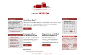 Strona www firmy Majster Bud - aktualności