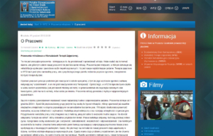 Strona www Polskiego Stowarzyszenia na rzecz Osób z Upośledzeniem Umysłowym - o PSOUU