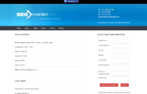 Strona www Seoinvention - kontakt
