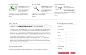 Strona www Seoinvention - oferta