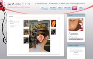 Strona www Kliniki Urody Spameed - galerie