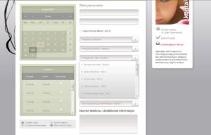 Strona www Kliniki Urody Spameed - system rezerwacyjny