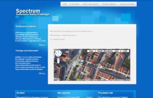 Strona www Kancelarii Prawnej Spectrum - kontakt