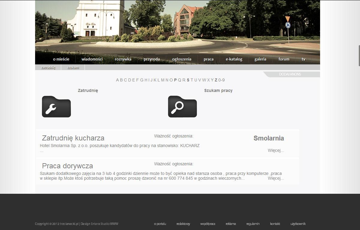 Portal internetowy Trzcianecki.pl - praca