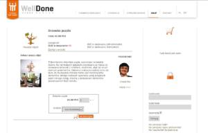 Strona www i sklep internetowy WellDone Dobre Rzeczy - projektanci
