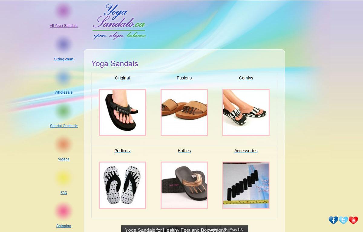 Sklep internetowy Yoga Sandals - produkty