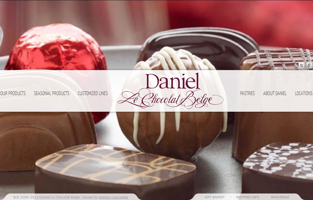 Strona www i sklep internetowy marki Daniel Le Chocolates Belge