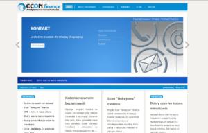 Portal internetowy dla deweloperów Econ Finance