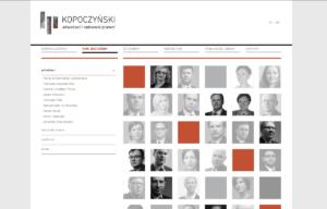 Strona www kancelarii Kopoczynski adwokaci i radcowie prawni - interaktywna mapa twarzy