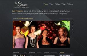 Strona www kwartetu Les Femmes - strona główna