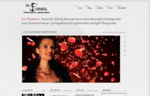 Strona www kwartetu Les Femmes - wersja biała