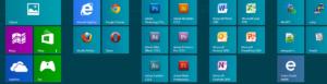 Strona Entera Studio WWW na ekranie startowym Windows 8