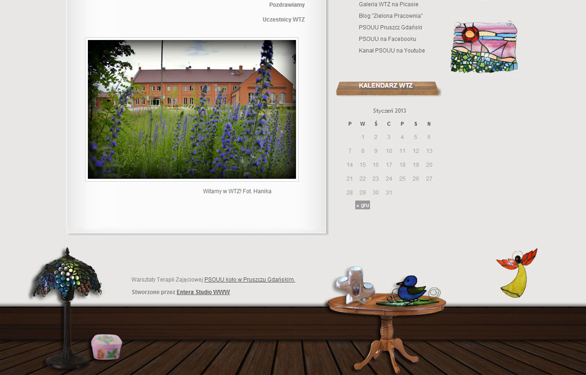 Blog WTZ PSOUU zaprojektowany przez Entera Studio WWW - strona główna