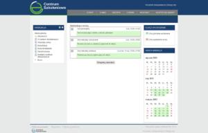 Platforma edukacyjna zaprojektowana przez Entera Studio WWW - kalendarz zajęć