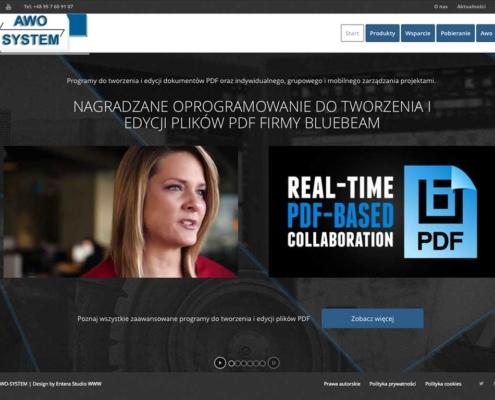 Strona www Awo System autorstwa Entera Studio WWW - programy Fine