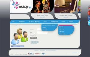 Portal edukuje.pl zaprojektowany przez Entera Studio WWW - logowanie i rejestracja