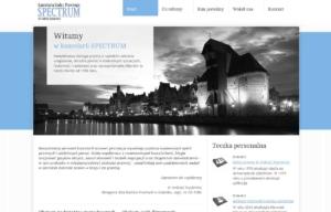 Nowa strona www Kancelarii Radcy Prawnego Spectrum, zaprojektowana przez Entera Studio WWW - strona startowa