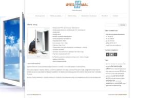 Strona www dla firmy Wiesmal autorstwa Entera Studio WWW - oferta