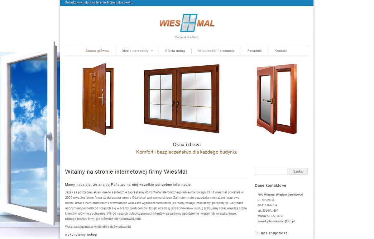 Strona www dla firmy Wiesmal autorstwa Entera Studio WWW - strona startowa