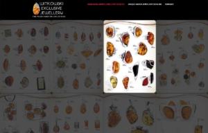 Katalog ekskluzywnej biżuterii z bursztynu zaprojektowany przez Entera Studio WWW - wyróżniona karta produktu